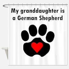 My Granddaughter Is A German Shepherd Shower Curta