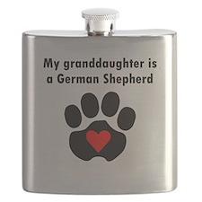 My Granddaughter Is A German Shepherd Flask