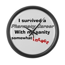 Retired Pharmacist Sanity Intact Large Wall Clock