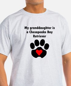 My Granddaughter Is A Chesapeake Bay Retriever T-S