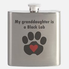 My Granddaughter Is A Black Lab Flask