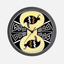 MIMBRES QUAILS BOWL DESIGN Wall Clock