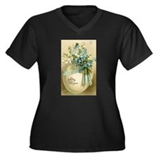 Vintage Easter Russuan Postcard Plus Size T-Shirt