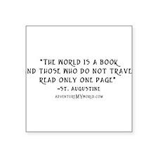 World is a book - White.psd Sticker