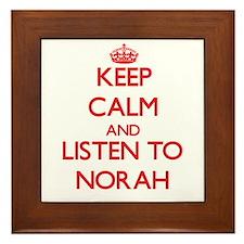 Keep Calm and listen to Norah Framed Tile