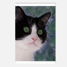 Cute Tuxedo cat Postcards (Package of 8)