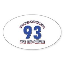 93 year old birthday designs Decal