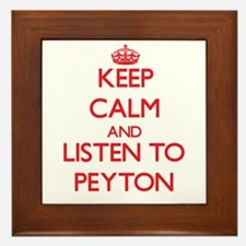 Keep Calm and listen to Peyton Framed Tile