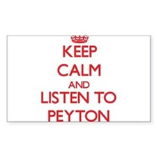 Keep Calm and listen to Peyton Decal