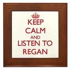Keep Calm and listen to Regan Framed Tile