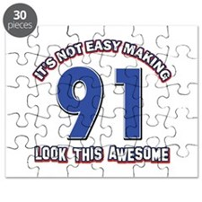 91 year old birthday designs Puzzle