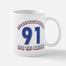 91 year old birthday designs Mug