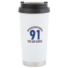 91 year old birthday designs Travel Mug