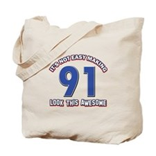 91 year old birthday designs Tote Bag