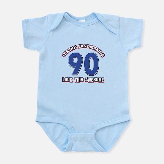 90 year old birthday designs Infant Bodysuit