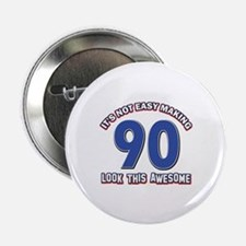 "90 year old birthday design 2.25"" Button (10 pack)"