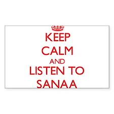 Keep Calm and listen to Sanaa Decal