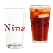 Nina Pink Flowers Drinking Glass