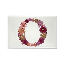 O Pink Flowers Rectangle Magnet