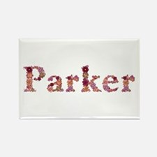 Parker Pink Flowers Rectangle Magnet
