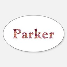 Parker Pink Flowers Oval Decal