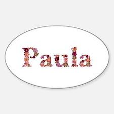 Paula Pink Flowers Oval Decal