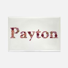 Payton Pink Flowers Rectangle Magnet
