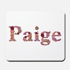 Paige Pink Flowers Mousepad