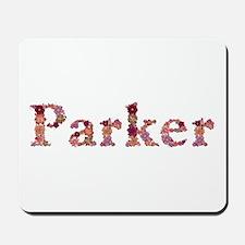 Parker Pink Flowers Mousepad