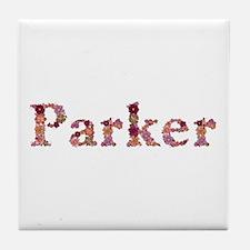 Parker Pink Flowers Tile Coaster