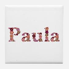 Paula Pink Flowers Tile Coaster