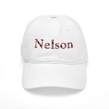 Nelson Pink Flowers Baseball Baseball Cap