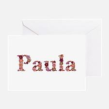 Paula Pink Flowers Greeting Card