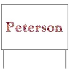 Peterson Pink Flowers Yard Sign