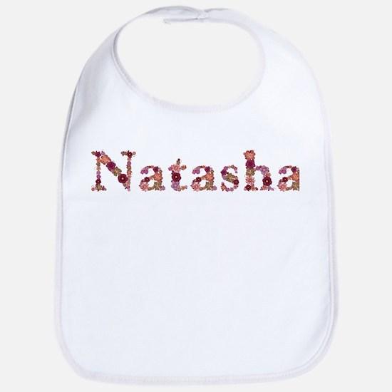 Natasha Pink Flowers Bib