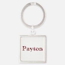 Payton Pink Flowers Square Keychain