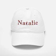Natalie Pink Flowers Baseball Baseball Baseball Cap