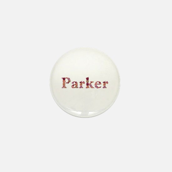 Parker Pink Flowers Mini Button