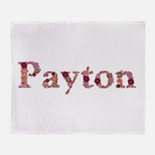 Payton Pink Flowers Throw Blanket