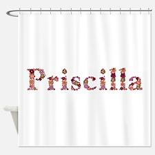 Priscilla Pink Flowers Shower Curtain