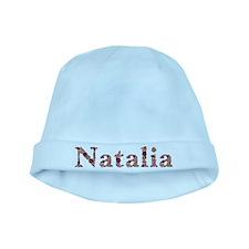 Natalia Pink Flowers baby hat