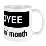 Employee of the month Small Mugs (11 oz)