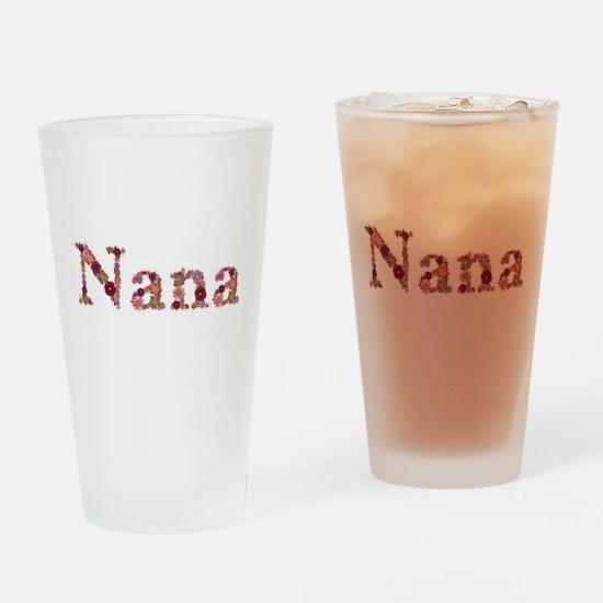 Nana Pink Flowers Drinking Glass