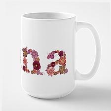 Nana Pink Flowers Mugs