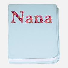 Nana Pink Flowers baby blanket