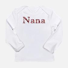 Nana Pink Flowers Long Sleeve T-Shirt