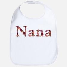 Nana Pink Flowers Bib