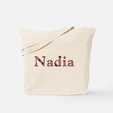 Nadia Pink Flowers Tote Bag