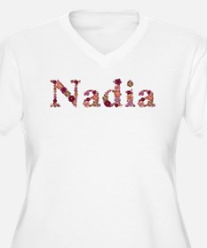 Nadia Pink Flowers Plus Size T-Shirt