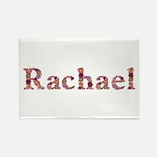 Rachael Pink Flowers Rectangle Magnet
